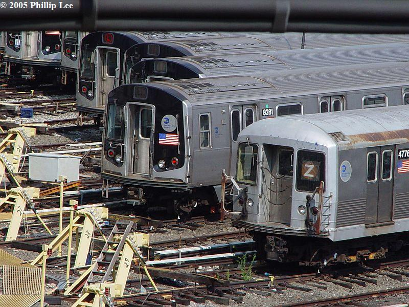 (132k, 800x600)<br><b>Country:</b> United States<br><b>City:</b> New York<br><b>System:</b> New York City Transit<br><b>Location:</b> East New York Yard/Shops<br><b>Car:</b> R-143 (Kawasaki, 2001-2002) 8281 <br><b>Photo by:</b> Phillip Lee<br><b>Date:</b> 8/2/2005<br><b>Viewed (this week/total):</b> 0 / 1306