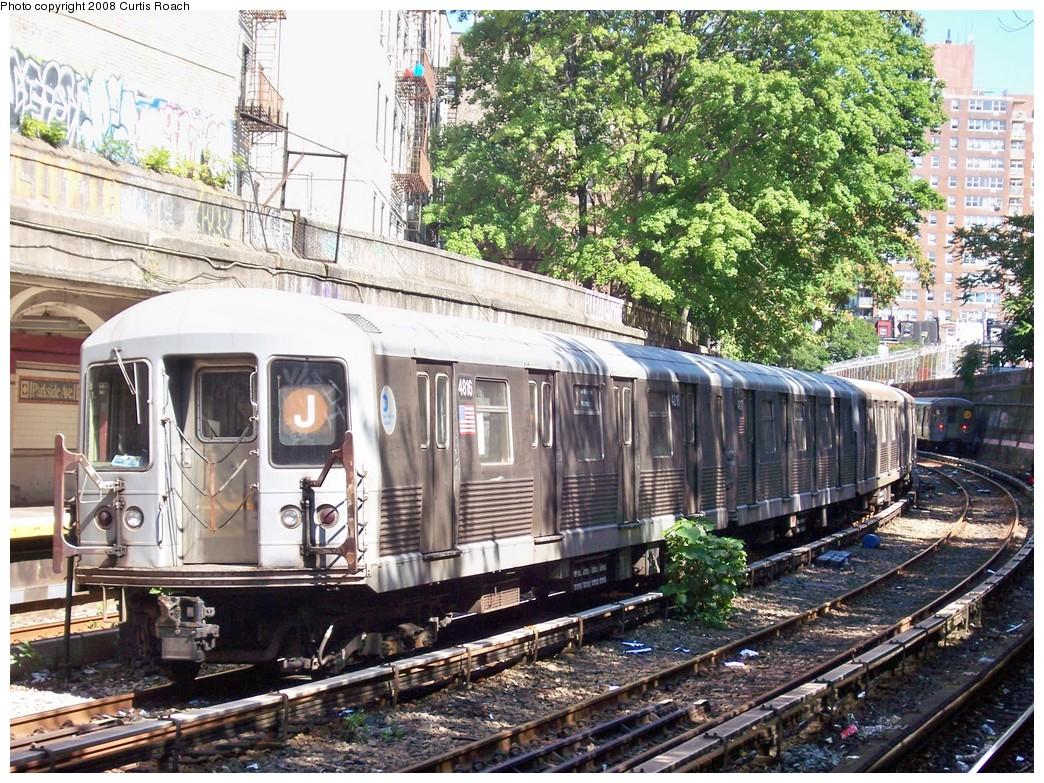 (346k, 1044x783)<br><b>Country:</b> United States<br><b>City:</b> New York<br><b>System:</b> New York City Transit<br><b>Line:</b> BMT Brighton Line<br><b>Location:</b> Parkside Avenue <br><b>Route:</b> J reroute<br><b>Car:</b> R-42 (St. Louis, 1969-1970)  4816 <br><b>Photo by:</b> Curtis Roach<br><b>Date:</b> 8/31/2008<br><b>Viewed (this week/total):</b> 1 / 1872