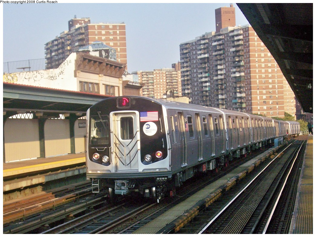 (262k, 1044x783)<br><b>Country:</b> United States<br><b>City:</b> New York<br><b>System:</b> New York City Transit<br><b>Line:</b> BMT Nassau Street/Jamaica Line<br><b>Location:</b> Hewes Street <br><b>Route:</b> J<br><b>Car:</b> R-160A-1 (Alstom, 2005-2008, 4 car sets)  8544 <br><b>Photo by:</b> Curtis Roach<br><b>Date:</b> 9/4/2008<br><b>Viewed (this week/total):</b> 0 / 1720