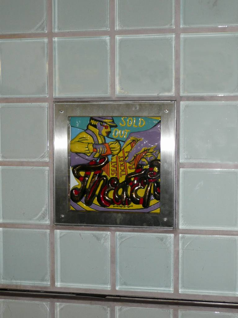 (82k, 767x1024)<br><b>Country:</b> United States<br><b>City:</b> New York<br><b>System:</b> New York City Transit<br><b>Line:</b> IRT West Side Line<br><b>Location:</b> Times Square/42nd Street <br><b>Photo by:</b> Robbie Rosenfeld<br><b>Date:</b> 8/31/2008<br><b>Artwork:</b> <i>Times Square Times: 35 Times</i>, Toby Buonagurio (2005).<br><b>Viewed (this week/total):</b> 3 / 1419