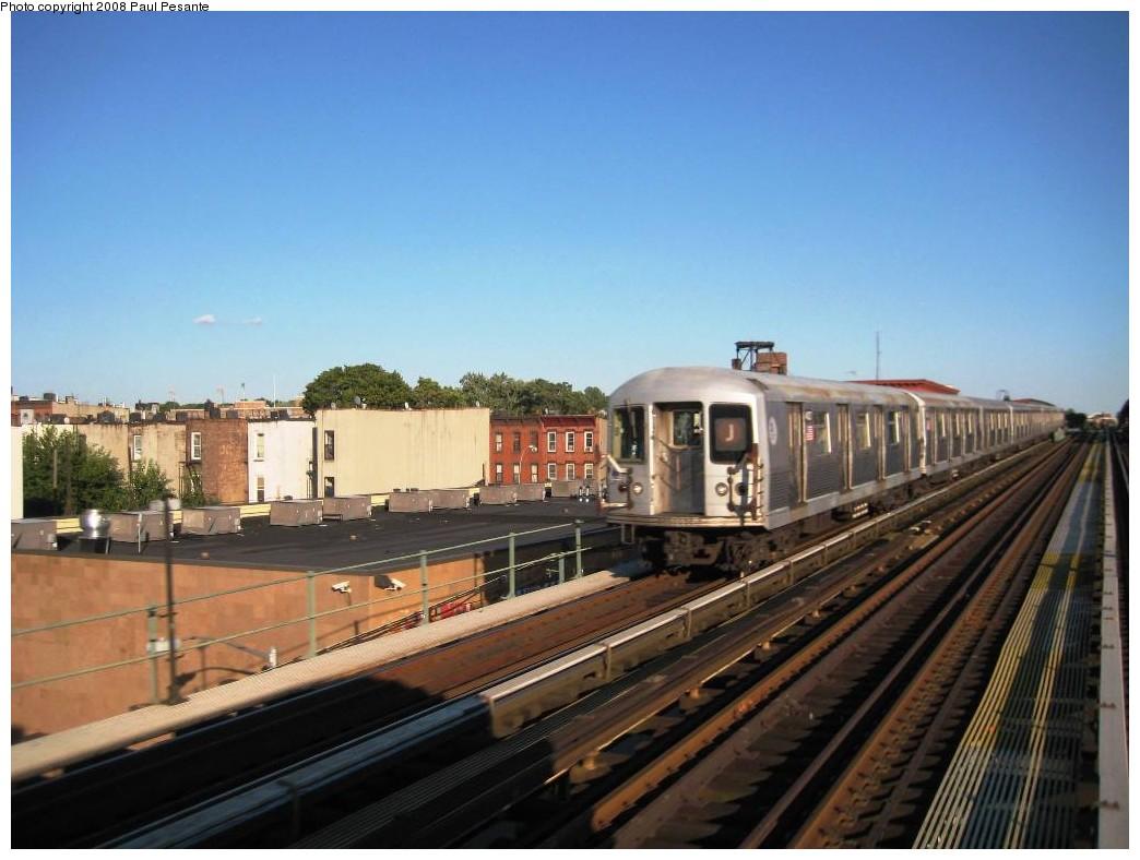 (172k, 1044x788)<br><b>Country:</b> United States<br><b>City:</b> New York<br><b>System:</b> New York City Transit<br><b>Line:</b> BMT Nassau Street/Jamaica Line<br><b>Location:</b> Chauncey Street <br><b>Route:</b> J<br><b>Car:</b> R-42 (St. Louis, 1969-1970)   <br><b>Photo by:</b> Paul Pesante<br><b>Date:</b> 9/7/2008<br><b>Viewed (this week/total):</b> 0 / 1542