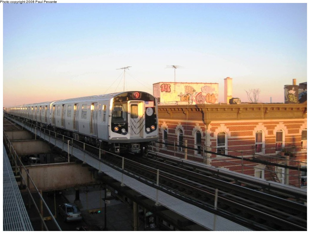(165k, 1044x788)<br><b>Country:</b> United States<br><b>City:</b> New York<br><b>System:</b> New York City Transit<br><b>Line:</b> BMT Nassau Street/Jamaica Line<br><b>Location:</b> Norwood Avenue <br><b>Route:</b> J<br><b>Car:</b> R-160A-1 (Alstom, 2005-2008, 4 car sets)   <br><b>Photo by:</b> Paul Pesante<br><b>Date:</b> 9/7/2008<br><b>Viewed (this week/total):</b> 0 / 1709
