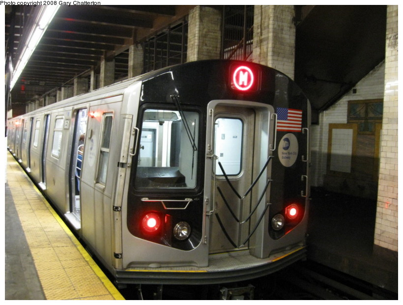 (132k, 820x620)<br><b>Country:</b> United States<br><b>City:</b> New York<br><b>System:</b> New York City Transit<br><b>Line:</b> BMT Nassau Street/Jamaica Line<br><b>Location:</b> Chambers Street <br><b>Route:</b> M<br><b>Car:</b> R-160A-1 (Alstom, 2005-2008, 4 car sets)  8501 <br><b>Photo by:</b> Gary Chatterton<br><b>Date:</b> 9/10/2008<br><b>Viewed (this week/total):</b> 0 / 2243
