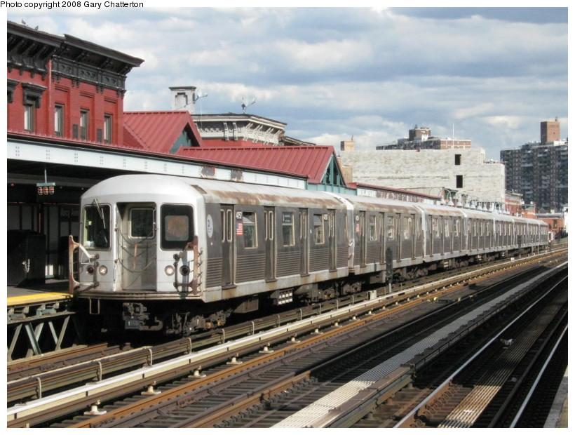 (155k, 820x620)<br><b>Country:</b> United States<br><b>City:</b> New York<br><b>System:</b> New York City Transit<br><b>Line:</b> BMT Nassau Street/Jamaica Line<br><b>Location:</b> Marcy Avenue <br><b>Route:</b> J<br><b>Car:</b> R-42 (St. Louis, 1969-1970)  4757 <br><b>Photo by:</b> Gary Chatterton<br><b>Date:</b> 9/10/2008<br><b>Viewed (this week/total):</b> 1 / 1503