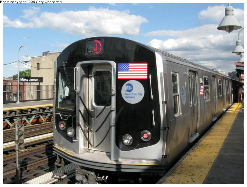 (138k, 820x620)<br><b>Country:</b> United States<br><b>City:</b> New York<br><b>System:</b> New York City Transit<br><b>Line:</b> BMT Nassau Street/Jamaica Line<br><b>Location:</b> Marcy Avenue <br><b>Route:</b> J<br><b>Car:</b> R-160A-1 (Alstom, 2005-2008, 4 car sets)  8544 <br><b>Photo by:</b> Gary Chatterton<br><b>Date:</b> 9/10/2008<br><b>Viewed (this week/total):</b> 0 / 1438