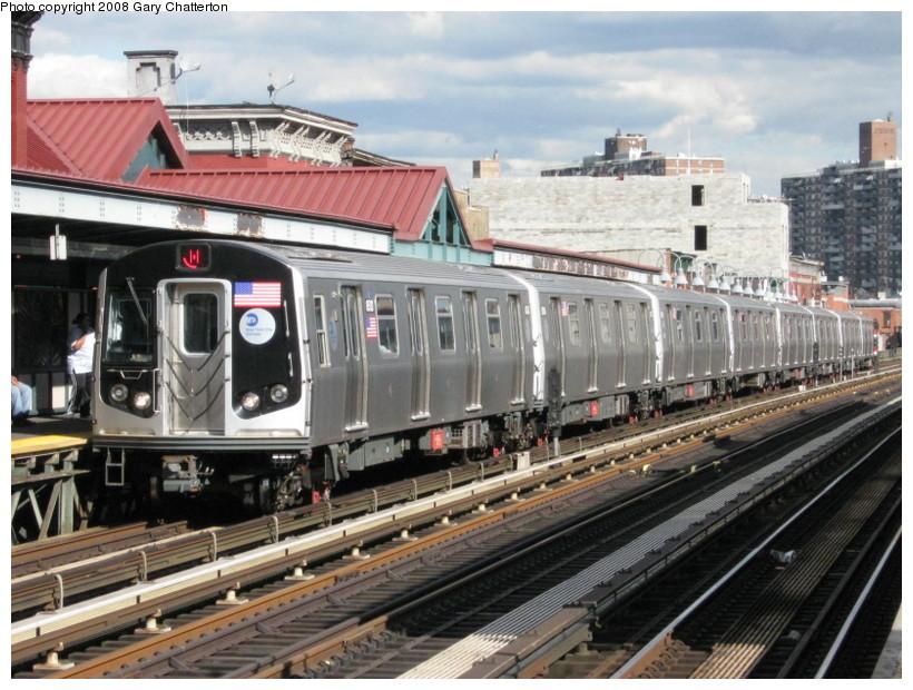 (162k, 820x620)<br><b>Country:</b> United States<br><b>City:</b> New York<br><b>System:</b> New York City Transit<br><b>Line:</b> BMT Nassau Street/Jamaica Line<br><b>Location:</b> Marcy Avenue <br><b>Route:</b> J<br><b>Car:</b> R-160A-1 (Alstom, 2005-2008, 4 car sets)  8513 <br><b>Photo by:</b> Gary Chatterton<br><b>Date:</b> 9/10/2008<br><b>Viewed (this week/total):</b> 0 / 1934