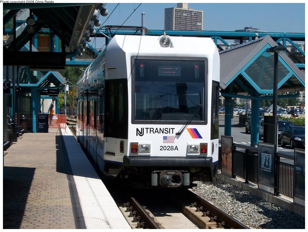 (242k, 1044x786)<br><b>Country:</b> United States<br><b>City:</b> Weehawken, NJ<br><b>System:</b> Hudson Bergen Light Rail<br><b>Location:</b> Port Imperial <br><b>Car:</b> NJT-HBLR LRV (Kinki-Sharyo, 1998-99)  2028 <br><b>Photo by:</b> Chris Reidy<br><b>Date:</b> 9/5/2008<br><b>Viewed (this week/total):</b> 1 / 799