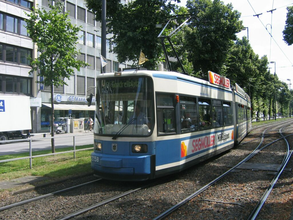 (207k, 1024x768)<br><b>Country:</b> Germany<br><b>City:</b> Munich<br><b>System:</b> MVG (Munchener Verkehrsgesellschaft)<br><b>Location:</b> Sonnenstrasse <br><b>Car:</b> Siemens GT6N R2.2  2158 <br><b>Photo by:</b> Jos Straathof<br><b>Date:</b> 8/14/2008<br><b>Viewed (this week/total):</b> 2 / 495