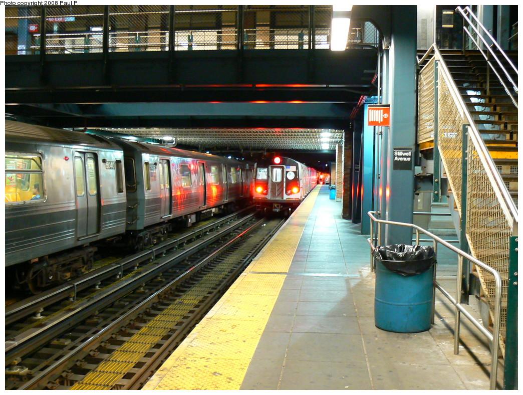 (321k, 1044x788)<br><b>Country:</b> United States<br><b>City:</b> New York<br><b>System:</b> New York City Transit<br><b>Location:</b> Coney Island/Stillwell Avenue<br><b>Route:</b> N<br><b>Car:</b> R-160A/R-160B Series (Number Unknown)  <br><b>Photo by:</b> Paul P.<br><b>Date:</b> 8/27/2008<br><b>Viewed (this week/total):</b> 0 / 2510