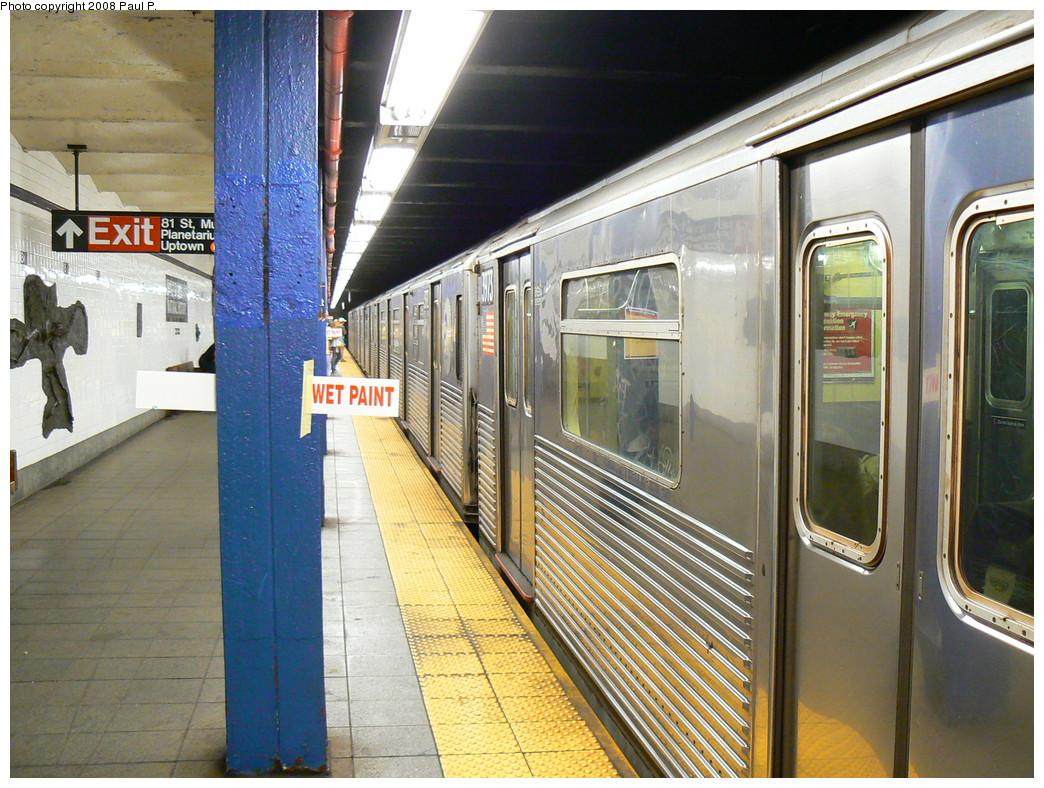 (303k, 1044x788)<br><b>Country:</b> United States<br><b>City:</b> New York<br><b>System:</b> New York City Transit<br><b>Line:</b> IND 8th Avenue Line<br><b>Location:</b> 81st Street/Museum of Natural History <br><b>Route:</b> C<br><b>Car:</b> R-38 (St. Louis, 1966-1967)   <br><b>Photo by:</b> Paul P.<br><b>Date:</b> 8/28/2008<br><b>Viewed (this week/total):</b> 1 / 9396