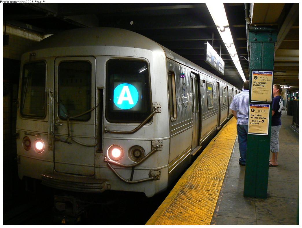 (256k, 1044x788)<br><b>Country:</b> United States<br><b>City:</b> New York<br><b>System:</b> New York City Transit<br><b>Line:</b> IND 8th Avenue Line<br><b>Location:</b> West 4th Street/Washington Square <br><b>Route:</b> A<br><b>Car:</b> R-44 (St. Louis, 1971-73)  <br><b>Photo by:</b> Paul P.<br><b>Date:</b> 8/28/2008<br><b>Viewed (this week/total):</b> 1 / 1781