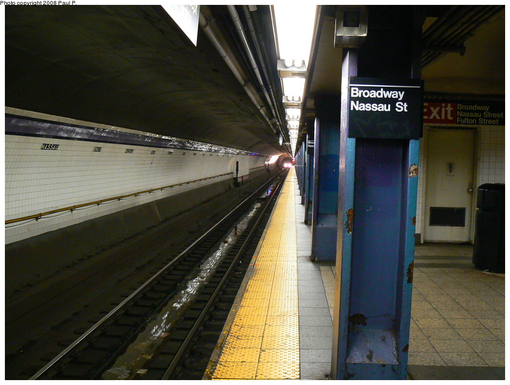(253k, 1044x788)<br><b>Country:</b> United States<br><b>City:</b> New York<br><b>System:</b> New York City Transit<br><b>Line:</b> IND 8th Avenue Line<br><b>Location:</b> Fulton Street (Broadway/Nassau) <br><b>Photo by:</b> Paul P.<br><b>Date:</b> 8/29/2008<br><b>Viewed (this week/total):</b> 0 / 2244