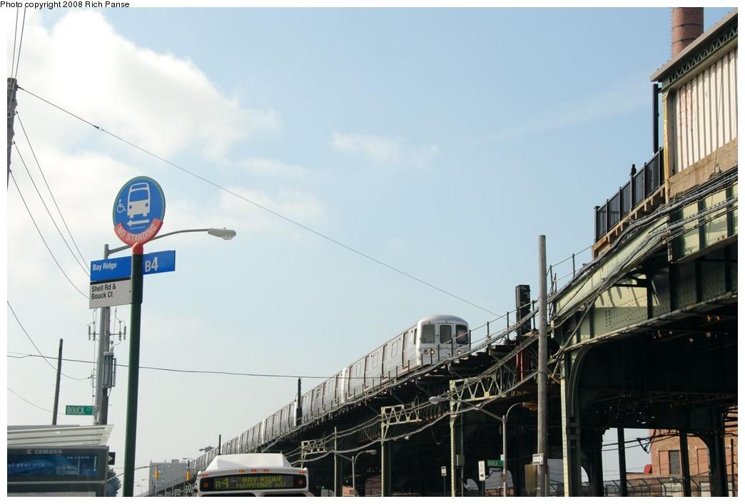 (141k, 1044x706)<br><b>Country:</b> United States<br><b>City:</b> New York<br><b>System:</b> New York City Transit<br><b>Line:</b> BMT Culver Line<br><b>Location:</b> Avenue X <br><b>Route:</b> F<br><b>Car:</b> R-46 (Pullman-Standard, 1974-75) 5754 <br><b>Photo by:</b> Richard Panse<br><b>Date:</b> 9/13/2008<br><b>Viewed (this week/total):</b> 1 / 2023