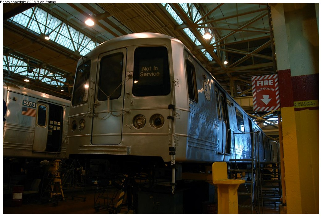 (174k, 1044x706)<br><b>Country:</b> United States<br><b>City:</b> New York<br><b>System:</b> New York City Transit<br><b>Location:</b> Coney Island Shop/Overhaul & Repair Shop<br><b>Car:</b> R-46 (Pullman-Standard, 1974-75) 5972 <br><b>Photo by:</b> Richard Panse<br><b>Date:</b> 9/13/2008<br><b>Viewed (this week/total):</b> 0 / 1222