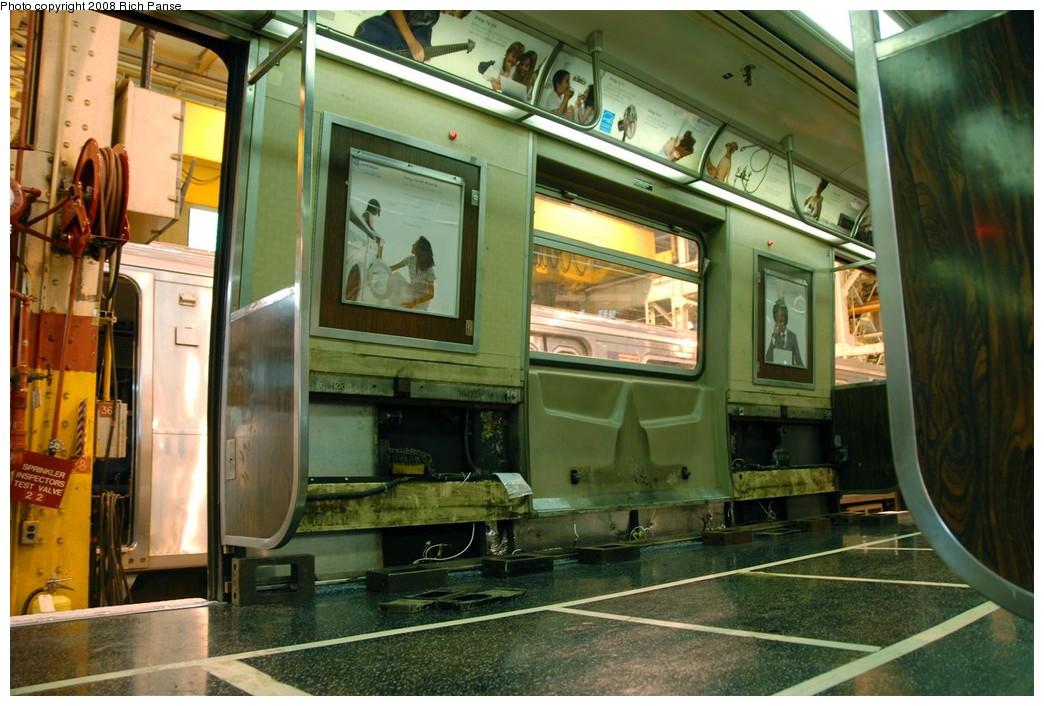 (202k, 1044x706)<br><b>Country:</b> United States<br><b>City:</b> New York<br><b>System:</b> New York City Transit<br><b>Location:</b> Coney Island Shop/Overhaul & Repair Shop<br><b>Car:</b> R-46 (Pullman-Standard, 1974-75) 6119 <br><b>Photo by:</b> Richard Panse<br><b>Date:</b> 9/13/2008<br><b>Viewed (this week/total):</b> 1 / 3097