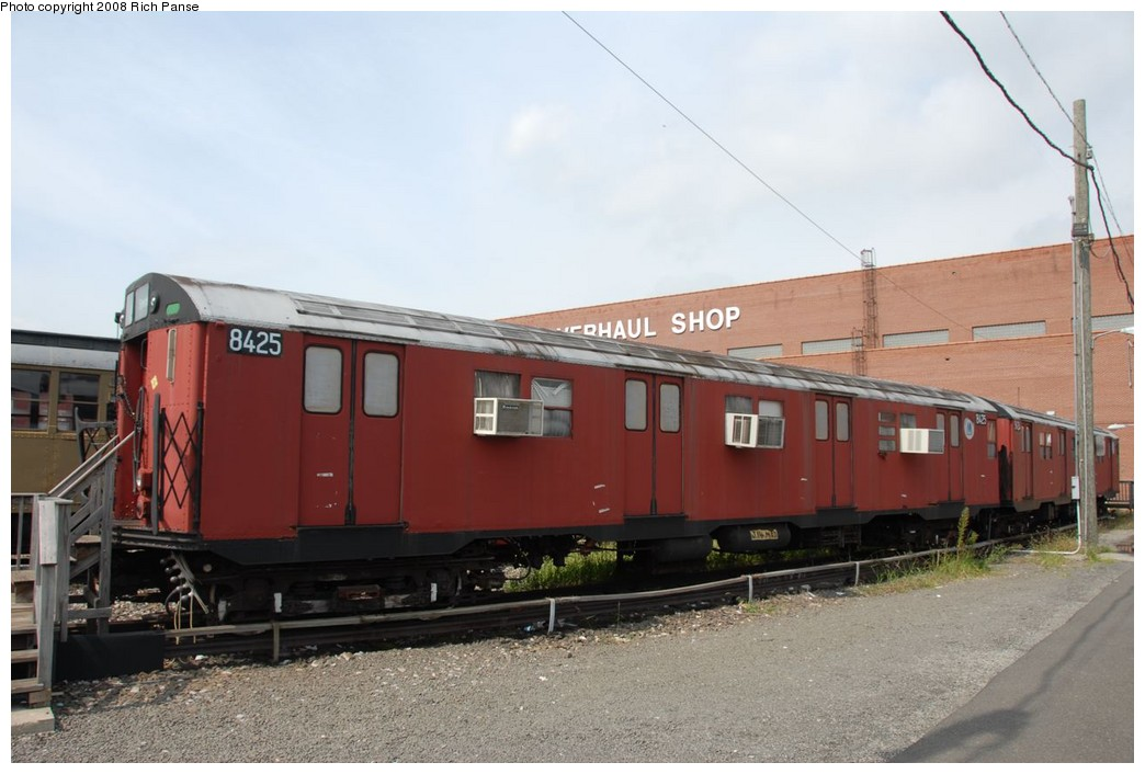 (180k, 1044x706)<br><b>Country:</b> United States<br><b>City:</b> New York<br><b>System:</b> New York City Transit<br><b>Location:</b> Coney Island Yard-Museum Yard<br><b>Car:</b> R-30 (St. Louis, 1961) 8425 <br><b>Photo by:</b> Richard Panse<br><b>Date:</b> 9/13/2008<br><b>Viewed (this week/total):</b> 1 / 1950