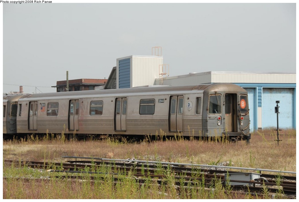 (197k, 1044x706)<br><b>Country:</b> United States<br><b>City:</b> New York<br><b>System:</b> New York City Transit<br><b>Location:</b> Coney Island Yard<br><b>Car:</b> R-68 (Westinghouse-Amrail, 1986-1988)  2844 <br><b>Photo by:</b> Richard Panse<br><b>Date:</b> 9/13/2008<br><b>Viewed (this week/total):</b> 0 / 1557