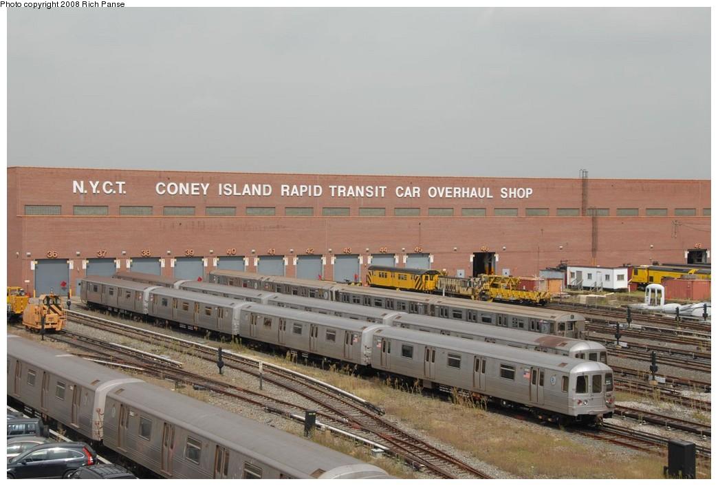 (196k, 1044x706)<br><b>Country:</b> United States<br><b>City:</b> New York<br><b>System:</b> New York City Transit<br><b>Location:</b> Coney Island Yard<br><b>Car:</b> R-46 (Pullman-Standard, 1974-75)  <br><b>Photo by:</b> Richard Panse<br><b>Date:</b> 9/13/2008<br><b>Viewed (this week/total):</b> 4 / 1882