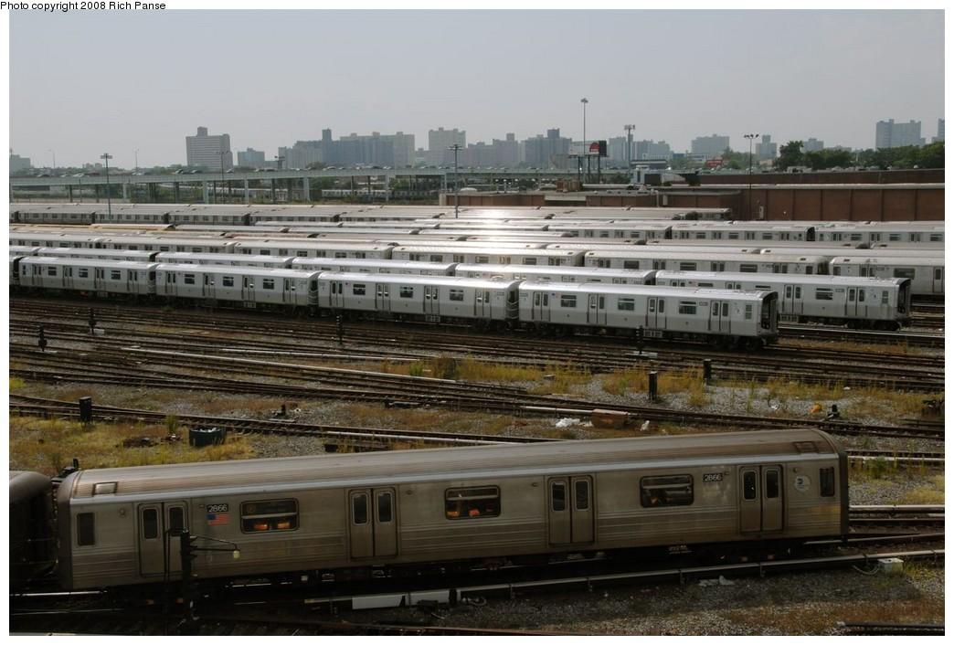 (184k, 1044x706)<br><b>Country:</b> United States<br><b>City:</b> New York<br><b>System:</b> New York City Transit<br><b>Location:</b> Coney Island Yard<br><b>Car:</b> R-68 (Westinghouse-Amrail, 1986-1988)  2866 <br><b>Photo by:</b> Richard Panse<br><b>Date:</b> 9/13/2008<br><b>Viewed (this week/total):</b> 0 / 1902
