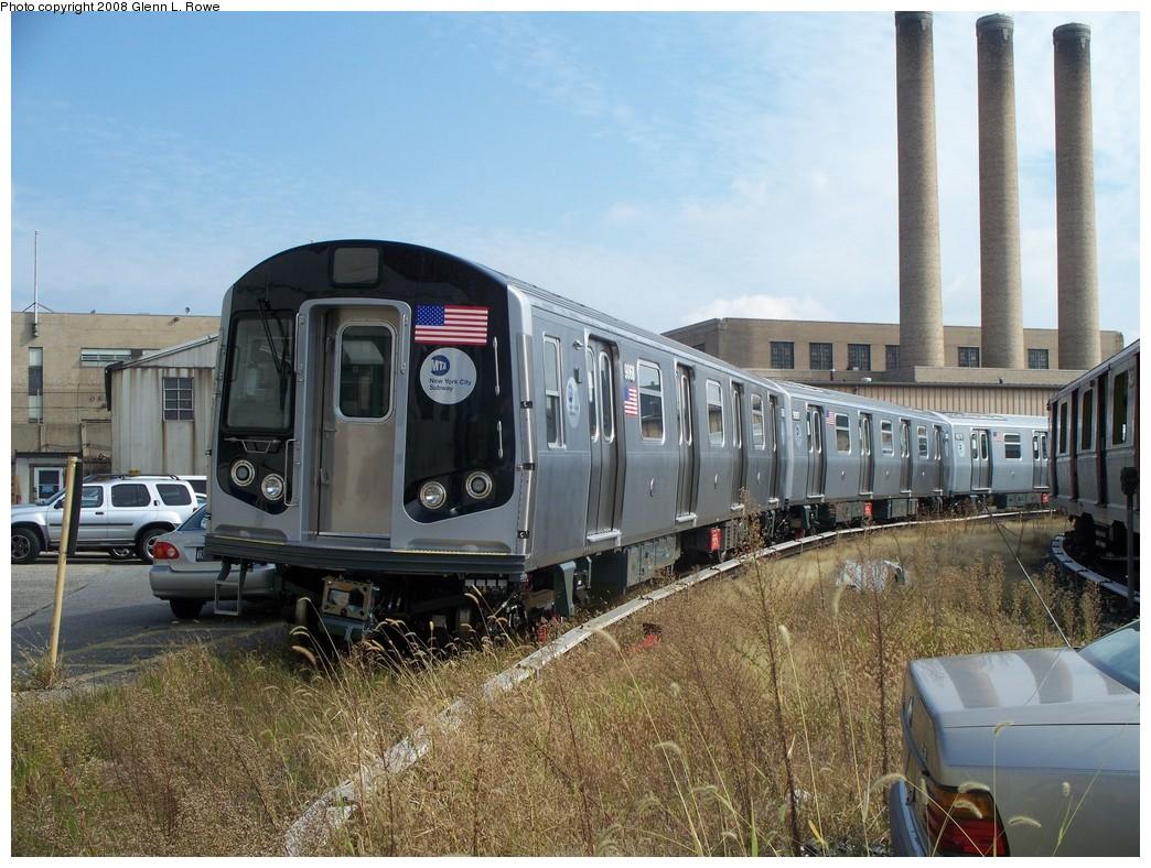 (252k, 1044x788)<br><b>Country:</b> United States<br><b>City:</b> New York<br><b>System:</b> New York City Transit<br><b>Location:</b> 207th Street Yard<br><b>Car:</b> R-160B (Option 1) (Kawasaki, 2008-2009)  9068 <br><b>Photo by:</b> Glenn L. Rowe<br><b>Date:</b> 10/1/2008<br><b>Viewed (this week/total):</b> 3 / 3078
