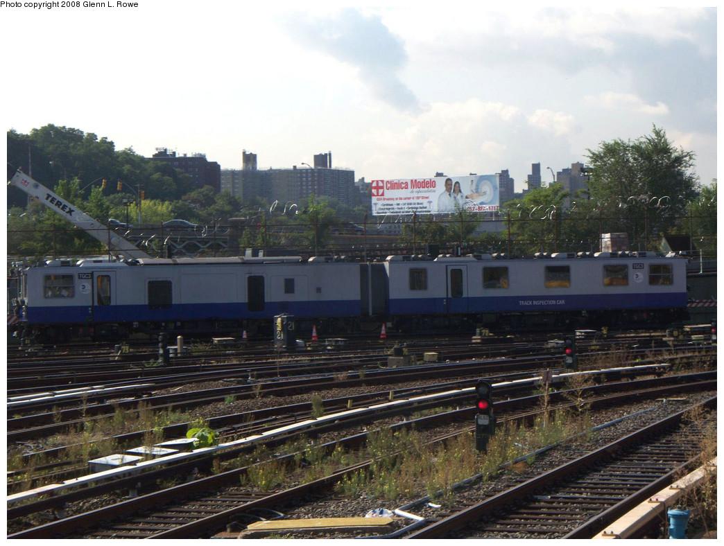 (270k, 1044x788)<br><b>Country:</b> United States<br><b>City:</b> New York<br><b>System:</b> New York City Transit<br><b>Location:</b> 207th Street Yard<br><b>Car:</b> Track Geometry Car TGC3 <br><b>Photo by:</b> Glenn L. Rowe<br><b>Date:</b> 9/30/2008<br><b>Viewed (this week/total):</b> 4 / 1434