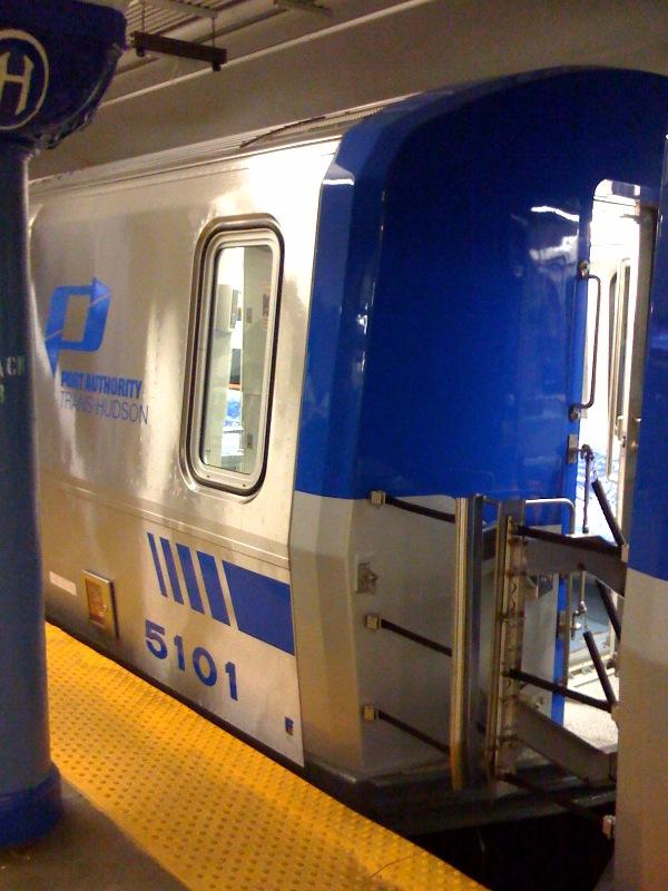 (151k, 600x800)<br><b>Country:</b> United States<br><b>City:</b> Hoboken, NJ<br><b>System:</b> PATH<br><b>Location:</b> Hoboken <br><b>Car:</b> PATH PA-5 (Kawasaki, 2009-2011) 5101 <br><b>Photo by:</b> Ray Bianco<br><b>Date:</b> 10/4/2008<br><b>Viewed (this week/total):</b> 0 / 1824
