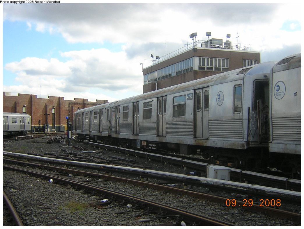 (237k, 1044x788)<br><b>Country:</b> United States<br><b>City:</b> New York<br><b>System:</b> New York City Transit<br><b>Location:</b> East New York Yard/Shops<br><b>Car:</b> R-42 (St. Louis, 1969-1970)  4772 <br><b>Photo by:</b> Robert Mencher<br><b>Date:</b> 9/29/2008<br><b>Viewed (this week/total):</b> 0 / 1010