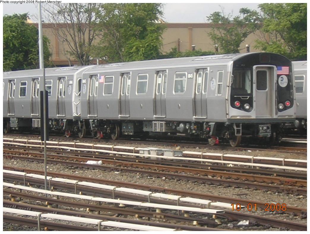 (259k, 1044x788)<br><b>Country:</b> United States<br><b>City:</b> New York<br><b>System:</b> New York City Transit<br><b>Location:</b> East New York Yard/Shops<br><b>Car:</b> R-160A-1 (Alstom, 2005-2008, 4 car sets)  8645 <br><b>Photo by:</b> Robert Mencher<br><b>Date:</b> 10/1/2008<br><b>Viewed (this week/total):</b> 0 / 1560