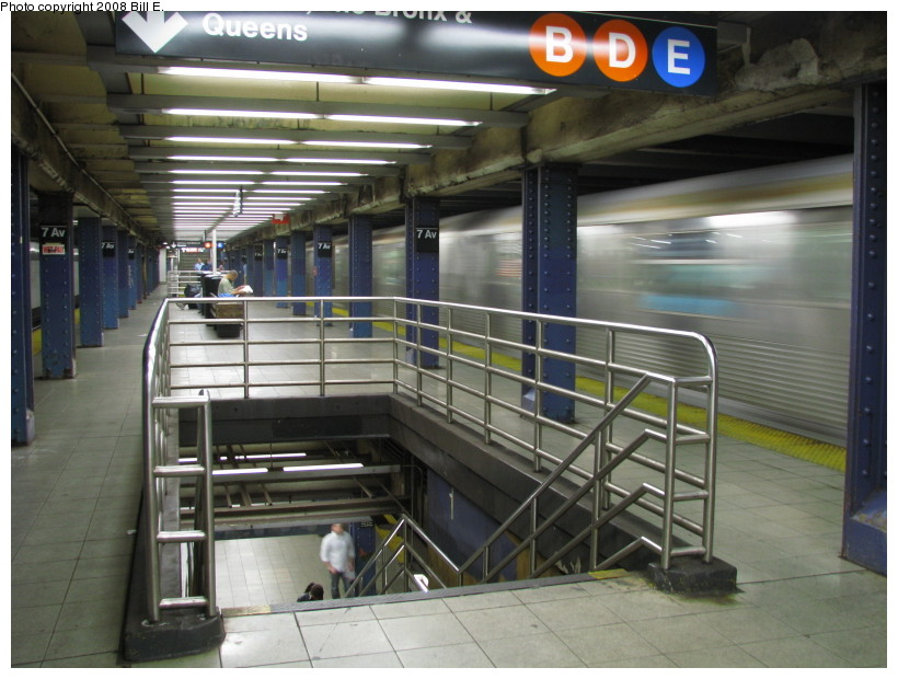 (137k, 820x620)<br><b>Country:</b> United States<br><b>City:</b> New York<br><b>System:</b> New York City Transit<br><b>Line:</b> IND Queens Boulevard Line<br><b>Location:</b> 7th Avenue/53rd Street <br><b>Photo by:</b> Bill E.<br><b>Date:</b> 10/1/2008<br><b>Viewed (this week/total):</b> 4 / 2485