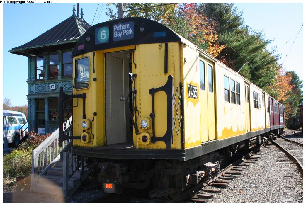(281k, 1044x703)<br><b>Country:</b> United States<br><b>City:</b> Kennebunk, ME<br><b>System:</b> Seashore Trolley Museum <br><b>Car:</b> R-22 (St. Louis, 1957-58) 37371 <br><b>Photo by:</b> Todd Glickman<br><b>Date:</b> 10/11/2008<br><b>Notes:</b> Car is really 7371 not 7435<br><b>Viewed (this week/total):</b> 1 / 976