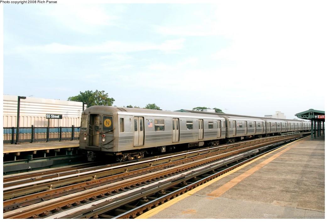 (162k, 1044x706)<br><b>Country:</b> United States<br><b>City:</b> New York<br><b>System:</b> New York City Transit<br><b>Line:</b> BMT West End Line<br><b>Location:</b> 55th Street <br><b>Route:</b> D<br><b>Car:</b> R-68 (Westinghouse-Amrail, 1986-1988)  2826 <br><b>Photo by:</b> Richard Panse<br><b>Date:</b> 9/13/2008<br><b>Viewed (this week/total):</b> 0 / 1297