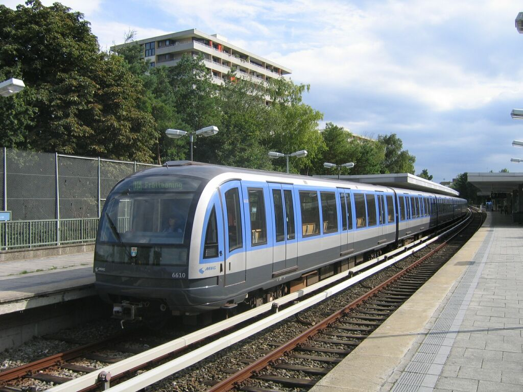 (164k, 1024x768)<br><b>Country:</b> Germany<br><b>City:</b> Munich<br><b>System:</b> München Verkehrsgesellschaft (MVG) <br><b>Line:</b> Munich U-Bahn U6<br><b>Location:</b> Kieferngarten <br><b>Route:</b> U6<br><b>Car:</b>  6610 <br><b>Photo by:</b> Jos Straathof<br><b>Date:</b> 8/14/2008<br><b>Viewed (this week/total):</b> 0 / 716