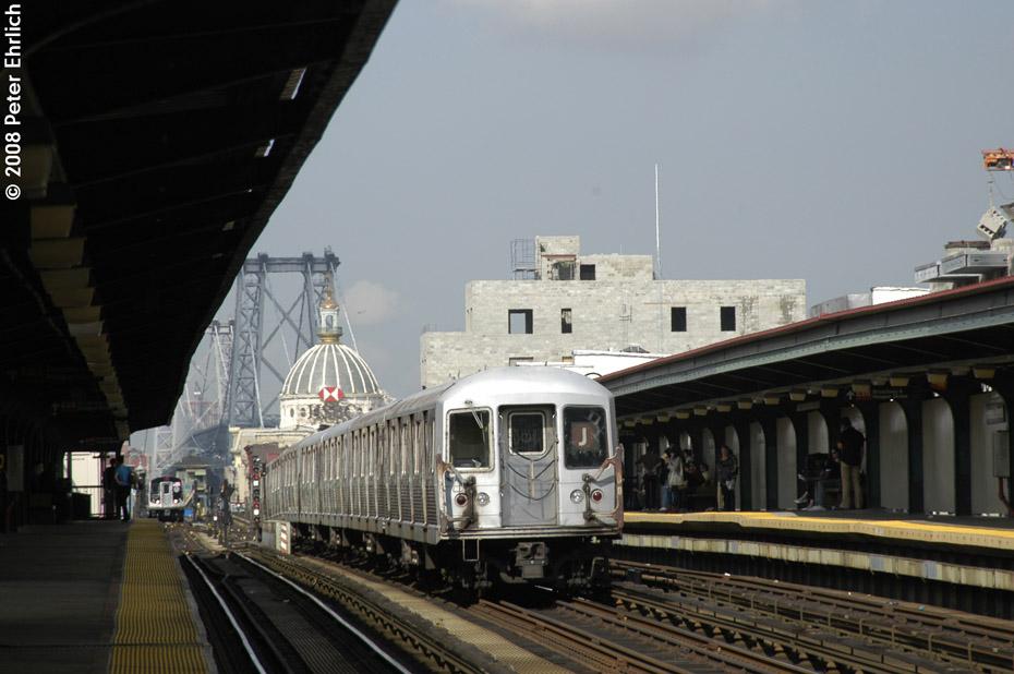 (167k, 930x618)<br><b>Country:</b> United States<br><b>City:</b> New York<br><b>System:</b> New York City Transit<br><b>Line:</b> BMT Nassau Street/Jamaica Line<br><b>Location:</b> Hewes Street <br><b>Route:</b> J<br><b>Car:</b> R-42 (St. Louis, 1969-1970)  4778 <br><b>Photo by:</b> Peter Ehrlich<br><b>Date:</b> 9/30/2008<br><b>Notes:</b> Inbound train.<br><b>Viewed (this week/total):</b> 0 / 1210