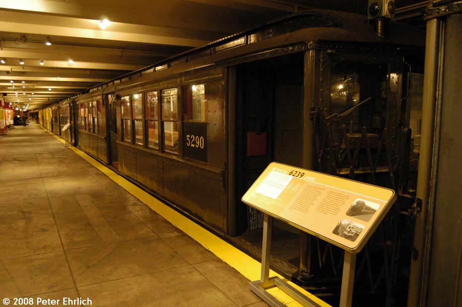 (208k, 930x618)<br><b>Country:</b> United States<br><b>City:</b> New York<br><b>System:</b> New York City Transit<br><b>Location:</b> New York Transit Museum<br><b>Car:</b> Low-V (Museum Train) 5290 <br><b>Photo by:</b> Peter Ehrlich<br><b>Date:</b> 9/30/2008<br><b>Notes:</b> IRT Lo-V 5290.<br><b>Viewed (this week/total):</b> 0 / 1566