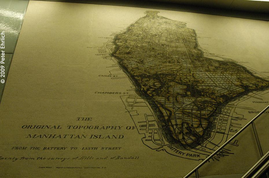 (243k, 930x618)<br><b>Country:</b> United States<br><b>City:</b> New York<br><b>System:</b> New York City Transit<br><b>Line:</b> IRT West Side Line<br><b>Location:</b> South Ferry (New Station)<br><b>Photo by:</b> Peter Ehrlich<br><b>Date:</b> 7/22/2009<br><b>Artwork:</b> <i>See It Split, See It Change</i>, Doug & Mike Starn, 2007<br><b>Viewed (this week/total):</b> 1 / 1501