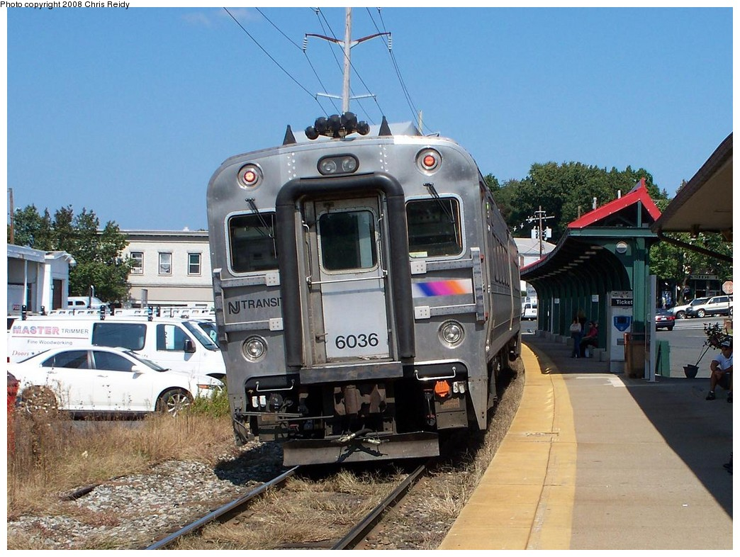 (246k, 1044x786)<br><b>Country:</b> United States<br><b>System:</b> NJ Transit (or Predecessor)<br><b>Line:</b> NJT Pascack Valley Line<br><b>Location:</b> Pearl River <br><b>Car:</b> NJT Comet V 6036 <br><b>Photo by:</b> Chris Reidy<br><b>Date:</b> 9/24/2008<br><b>Viewed (this week/total):</b> 1 / 1652