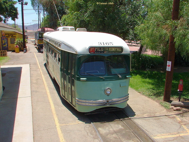 (202k, 800x600)<br><b>Country:</b> United States<br><b>City:</b> Perris, CA<br><b>System:</b> Orange Empire Railway Museum <br><b>Car:</b> PCC  3165 <br><b>Photo by:</b> Salaam Allah<br><b>Date:</b> 7/13/2007<br><b>Viewed (this week/total):</b> 1 / 1103
