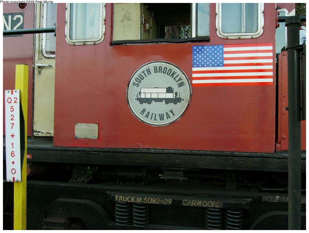 (188k, 1044x788)<br><b>Country:</b> United States<br><b>City:</b> New York<br><b>System:</b> New York City Transit<br><b>Line:</b> BMT Canarsie Line<br><b>Location:</b> East 105th Street <br><b>Route:</b> Work Service<br><b>Car:</b> R-47 (SBK) Locomotive  N2 <br><b>Photo by:</b> Pete Monty<br><b>Date:</b> 10/13/2008<br><b>Viewed (this week/total):</b> 1 / 1699