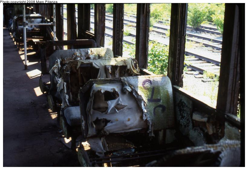 (146k, 820x562)<br><b>Country:</b> United States<br><b>City:</b> New York<br><b>System:</b> New York City Transit<br><b>Line:</b> SIRT<br><b>Location:</b> Travis Yard, Staten Island<br><b>Car:</b> SIRT ME-1 (Motor) 353 <br><b>Photo by:</b> Marc Pitanza<br><b>Date:</b> 7/17/2002<br><b>Viewed (this week/total):</b> 0 / 2730