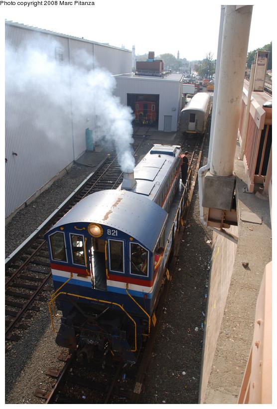 (148k, 556x821)<br><b>Country:</b> United States<br><b>City:</b> New York<br><b>System:</b> New York City Transit<br><b>Line:</b> SIRT<br><b>Location:</b> Clifton Yard/Shops <br><b>Car:</b> SIRT Alco S-2 821 <br><b>Photo by:</b> Marc Pitanza<br><b>Date:</b> 10/9/2008<br><b>Viewed (this week/total):</b> 1 / 1414