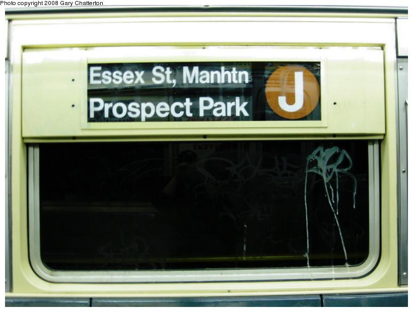 (98k, 820x620)<br><b>Country:</b> United States<br><b>City:</b> New York<br><b>System:</b> New York City Transit<br><b>Route:</b> J Shuttle<br><b>Car:</b> R-42 (St. Louis, 1969-1970)  4804 <br><b>Photo by:</b> Gary Chatterton<br><b>Date:</b> 10/5/2008<br><b>Notes:</b> R42 Roll Sign<br><b>Viewed (this week/total):</b> 0 / 1220