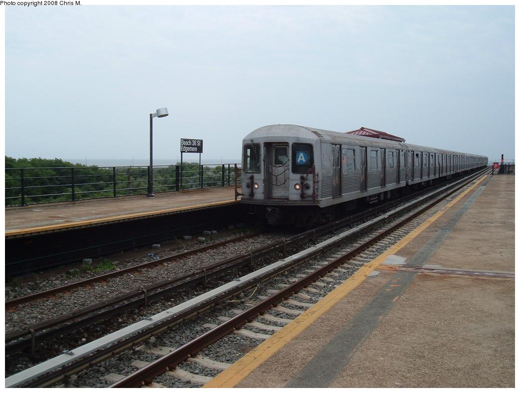 (211k, 1044x788)<br><b>Country:</b> United States<br><b>City:</b> New York<br><b>System:</b> New York City Transit<br><b>Line:</b> IND Rockaway<br><b>Location:</b> Beach 36th Street/Edgemere <br><b>Route:</b> A<br><b>Car:</b> R-42 (St. Louis, 1969-1970)  4572 <br><b>Photo by:</b> Chris M.<br><b>Date:</b> 7/22/2008<br><b>Viewed (this week/total):</b> 0 / 1857