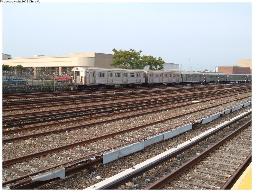 (296k, 1044x788)<br><b>Country:</b> United States<br><b>City:</b> New York<br><b>System:</b> New York City Transit<br><b>Location:</b> Rockaway Park Yard<br><b>Car:</b> R-32 (Budd, 1964)  3836 <br><b>Photo by:</b> Chris M.<br><b>Date:</b> 7/22/2008<br><b>Viewed (this week/total):</b> 2 / 1356