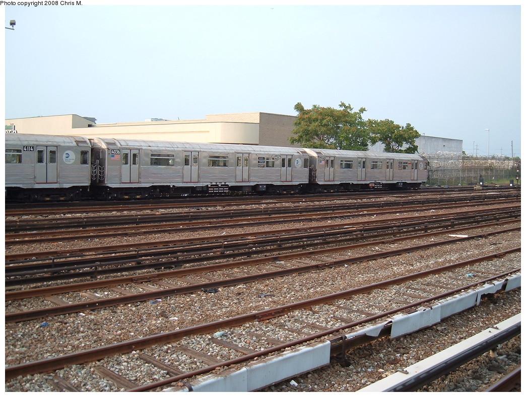 (280k, 1044x788)<br><b>Country:</b> United States<br><b>City:</b> New York<br><b>System:</b> New York City Transit<br><b>Location:</b> Rockaway Park Yard<br><b>Car:</b> R-38 (St. Louis, 1966-1967)  4036 <br><b>Photo by:</b> Chris M.<br><b>Date:</b> 7/22/2008<br><b>Viewed (this week/total):</b> 1 / 1078