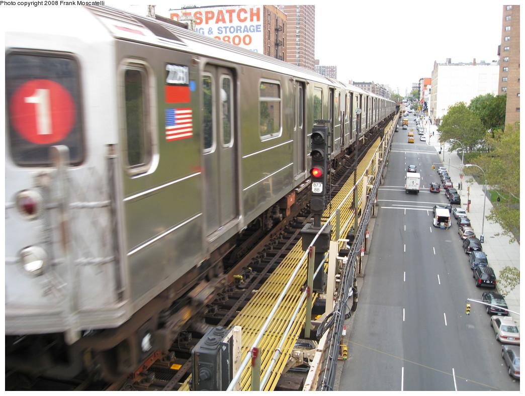 (234k, 1044x788)<br><b>Country:</b> United States<br><b>City:</b> New York<br><b>System:</b> New York City Transit<br><b>Line:</b> IRT West Side Line<br><b>Location:</b> 125th Street <br><b>Route:</b> 1<br><b>Car:</b> R-62A (Bombardier, 1984-1987)  2281 <br><b>Photo by:</b> Frank Moscatelli<br><b>Date:</b> 10/24/2007<br><b>Viewed (this week/total):</b> 0 / 1703