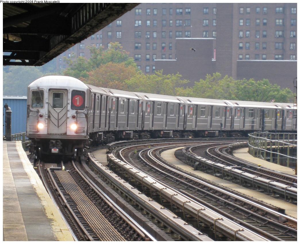 (297k, 1044x851)<br><b>Country:</b> United States<br><b>City:</b> New York<br><b>System:</b> New York City Transit<br><b>Line:</b> IRT West Side Line<br><b>Location:</b> 207th Street <br><b>Route:</b> 1<br><b>Car:</b> R-62A (Bombardier, 1984-1987)   <br><b>Photo by:</b> Frank Moscatelli<br><b>Date:</b> 10/16/2008<br><b>Viewed (this week/total):</b> 0 / 1537