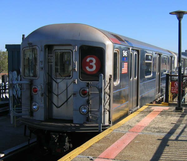 (47k, 600x515)<br><b>Country:</b> United States<br><b>City:</b> New York<br><b>System:</b> New York City Transit<br><b>Line:</b> IRT Brooklyn Line<br><b>Location:</b> Sutter Avenue/Rutland Road <br><b>Route:</b> 3<br><b>Car:</b> R-62A (Bombardier, 1984-1987)  1946 <br><b>Photo by:</b> Professor J<br><b>Date:</b> 10/20/2008<br><b>Viewed (this week/total):</b> 1 / 2109