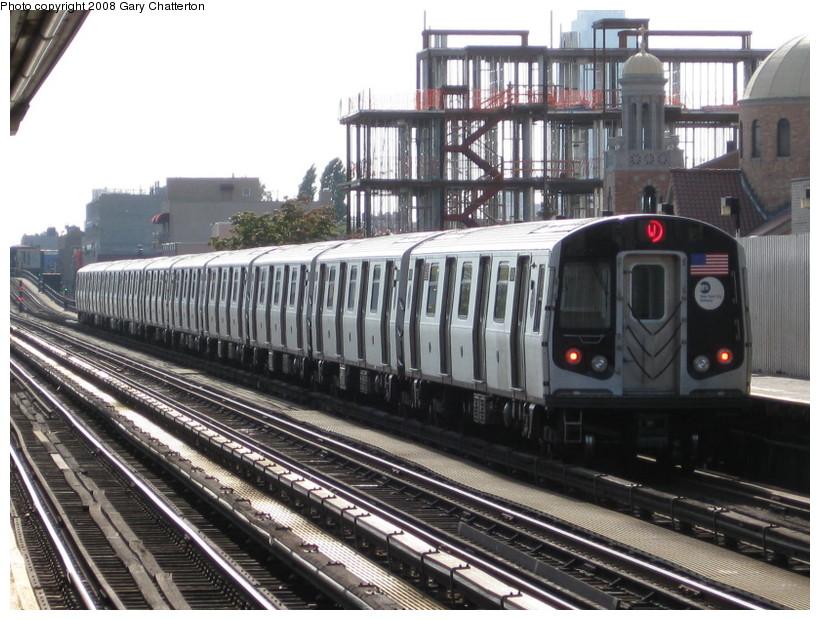 (158k, 820x620)<br><b>Country:</b> United States<br><b>City:</b> New York<br><b>System:</b> New York City Transit<br><b>Line:</b> BMT Astoria Line<br><b>Location:</b> 30th/Grand Aves. <br><b>Route:</b> N<br><b>Car:</b> R-160B (Kawasaki, 2005-2008)  8808 <br><b>Photo by:</b> Gary Chatterton<br><b>Date:</b> 10/14/2008<br><b>Viewed (this week/total):</b> 2 / 1868