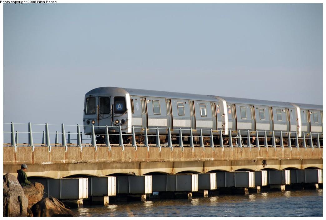 (142k, 1044x706)<br><b>Country:</b> United States<br><b>City:</b> New York<br><b>System:</b> New York City Transit<br><b>Line:</b> IND Rockaway<br><b>Location:</b> North Channel Bridge <br><b>Route:</b> A<br><b>Car:</b> R-44 (St. Louis, 1971-73) 5478 <br><b>Photo by:</b> Richard Panse<br><b>Date:</b> 9/23/2008<br><b>Viewed (this week/total):</b> 0 / 1444