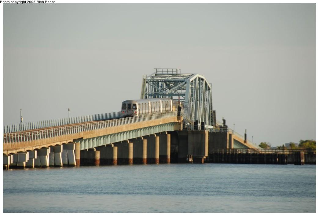 (138k, 1044x706)<br><b>Country:</b> United States<br><b>City:</b> New York<br><b>System:</b> New York City Transit<br><b>Line:</b> IND Rockaway<br><b>Location:</b> North Channel Bridge <br><b>Route:</b> A<br><b>Car:</b> R-44 (St. Louis, 1971-73) 5416 <br><b>Photo by:</b> Richard Panse<br><b>Date:</b> 9/23/2008<br><b>Viewed (this week/total):</b> 0 / 1476